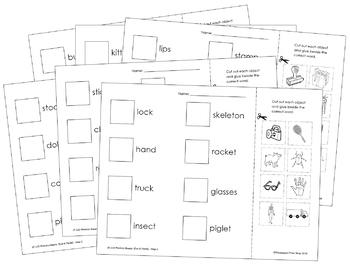 Phonics Sheets (Cut & Paste) - Step 2