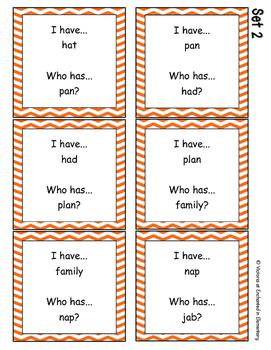 Phonics: Short A I Have, Who Has?