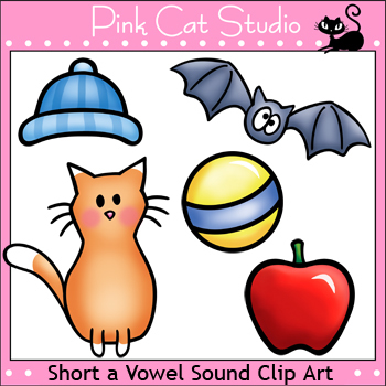 Phonics Short A Vowel Sound Clip Art Set - Personal or Commercial Use