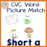 Phonics Short A Word and Picture Match