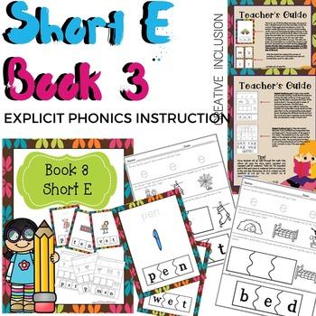 Phonics Short E Book for Special Education