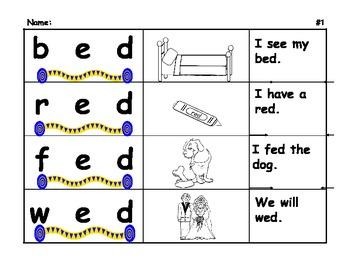 Phonics-Short E Practice Blending Words and Sentence Fluency