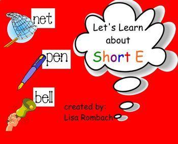 Phonics Short E SmartBoard Lesson Primary Grades