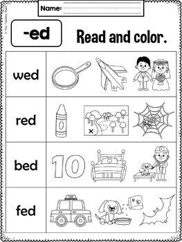 Phonics Short E Word Family Packet