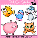 Phonics Short I Vowel Sound Clip Art Set - Personal or Commercial Use