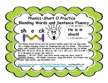 Phonics-Short O Practice              Blending Words and Sentence Fluency