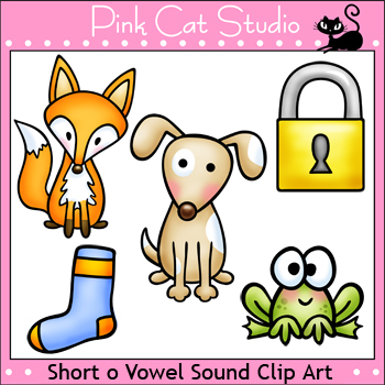 Phonics Short O Vowel Sound Clip Art Set - Personal or Commercial Use