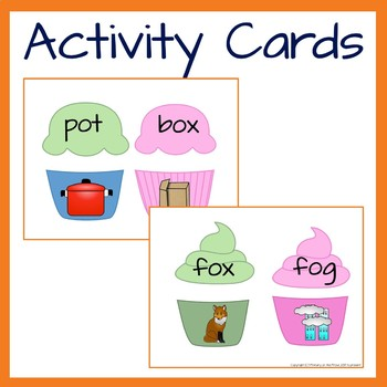 Phonics Short O Word and Picture Match