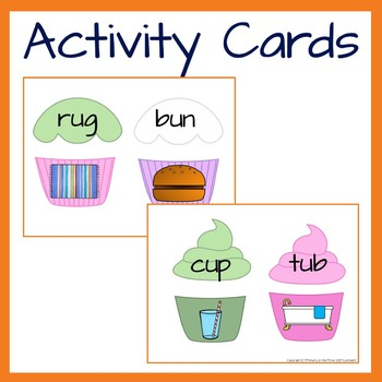 Phonics Short U Word and Picture Match