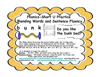 Phonics- Short U Practice                    Blending Word