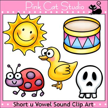 Phonics Short U Vowel Sound Clip Art Set - Personal or Commercial Use