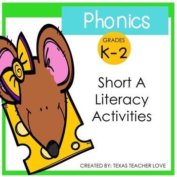 Phonics: Short Vowel A Literacy Activities