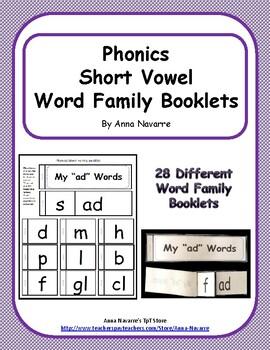 Phonics Short Vowel Booklets