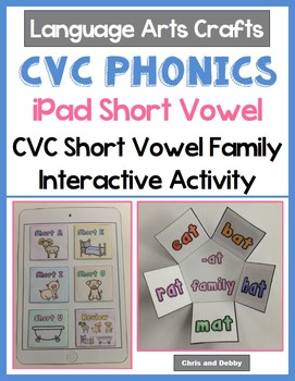 Short Vowel CVC Word Families - iPad Interactive Activity