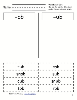 Word Sorts: Cut and Paste Short Vowel Words (CCSS Aligned)
