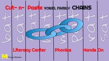 23 Phonics Short Vowel Families: Paper Chains Literacy Cen