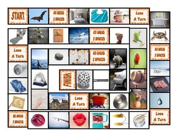 Phonics Short Vowel Sounds Photo Board Game