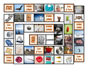 Phonics Short Vowel Sounds Photo Board Game