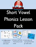 Phonics Worksheets, Lesson Plan, Flashcards - Short Vowels