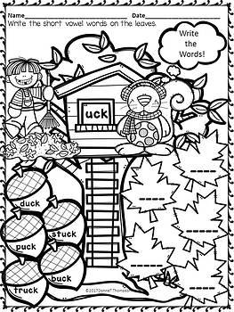 "Phonics ""Short Vowel Word Families"" (Write CVCC, CCVC or CCVCC Words Worksheets)"