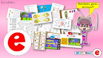 Phonics Short Vowel e - Video/Games/Worksheets