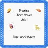 Phonics Short Vowels Freebie!