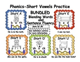 Phonics-Short Vowels Practice-Bundled Blending Words and S