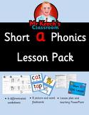 Phonics Worksheets, Lesson Plan, Flashcards - Short a CVC