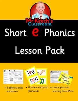 Phonics - Short e CVC Lesson Pack