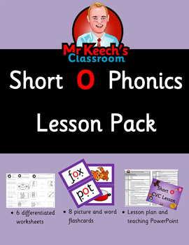 Phonics Worksheets, Lesson Plan, Flashcards - Short o CVC Lesson Pack