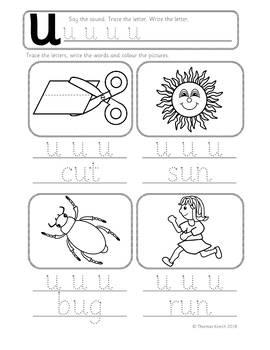 Phonics Worksheets, Lesson Plan, Flashcards - Short u CVC Lesson Pack