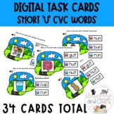 Phonics Short 'u' Digital Task Cards Distance Learning | B