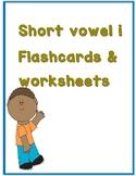 Phonics: Short vowel i Flashcards and worksheets