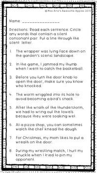 Phonics - Silent Consonants - Grades 4-6