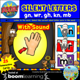 Silent Letters kn gn wr mb gh BOOM™ Cards with SOUND