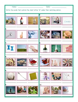 Phonics Silent Letter G Worksheet