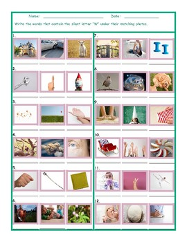 Phonics Silent Letter W Worksheet