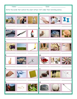 Phonics Silent Letters KN Worksheet
