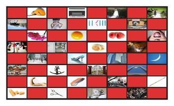 Phonics Silent Letters L-H-E-U-P-C Checkerboard Game