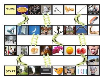 Phonics Silent Letters L-H-E-U-P-C Chutes-Ladders Game