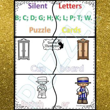 """Phonics """"Words with Silent Letters"""" (Puzzle Cards)"""