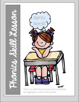 Phonics Skill Lesson: AW/AU