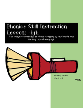 Phonics Skill Lesson: -igh