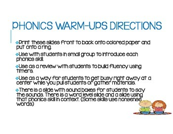 Phonics Skill Practice