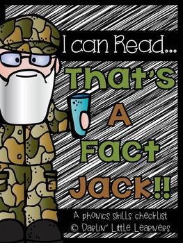 Phonics Skills Checklist {I Can Read...That's a Fact Jack!}