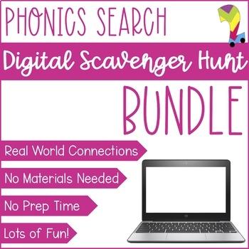 Phonics Skills Virtual Lesson   No Prep Zoom Scavenger Hunt