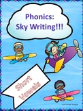 "Phonics Sky Writing ""Short Vowel Word Families"" (Task Cards or Worksheets)"