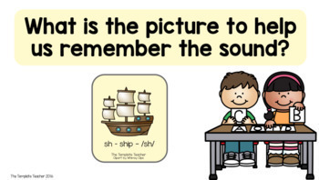 Phonics Slideshow Lessons using Powerpoint or Google Slides PREVIEW