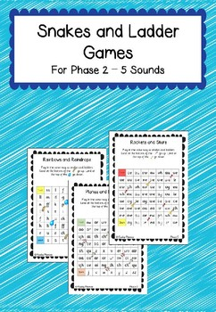 Phonics Snake and Ladder Type Games for Phase 2,3 and 5