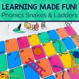 Phonics Snakes & Ladders Games for Beginning Reading and S